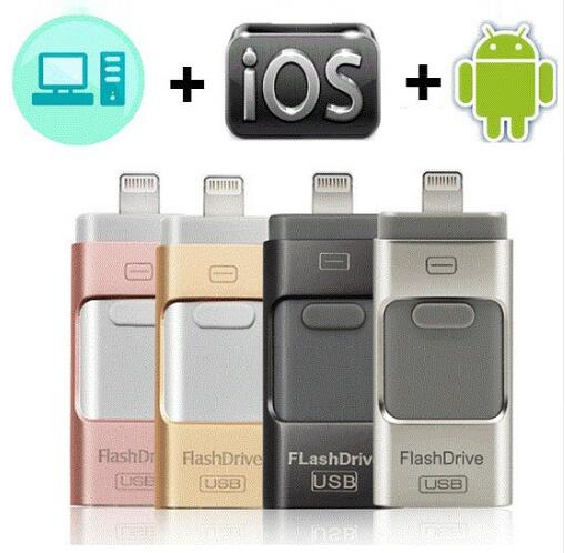 USB 3.0-Stick Für <font><b>iPhone</b></font> X/8/7/7 Plus/<font><b>6</b></font>/<font><b>6</b></font> s/5 /SE/ipad OTG Stift Stick HD Memory Stick 8GB 16GB <font><b>32GB</b></font> 64GB 128GB stick usb image