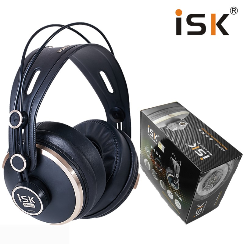 ISK HD9999 Luxurious Fully enclosed Monitor Headset headphone for DJ audio mixing recording studio monitoring