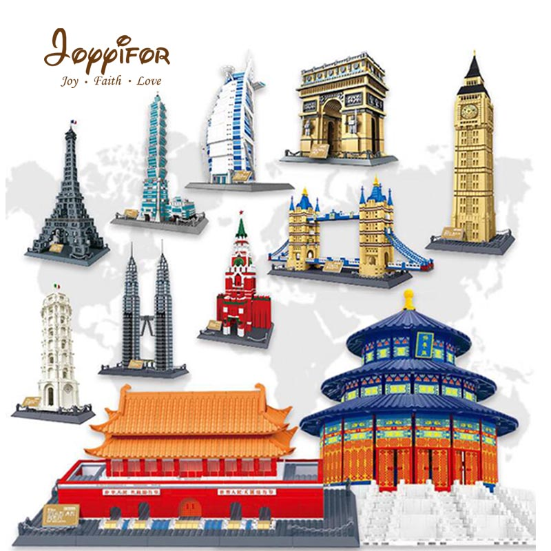 Joyyifor Big City tower Compatible With LegoINGlys Hotel Eiffel Tower World's Great Architecture Building Block Creative Toys eiffel tower