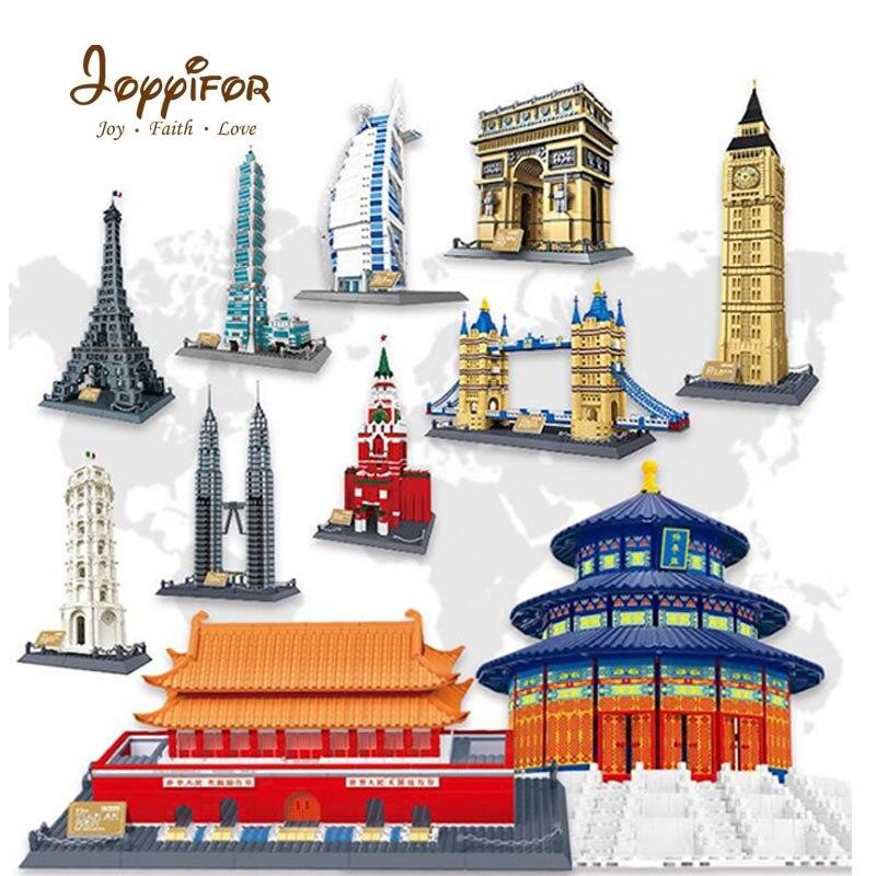 Joyyifor grande tour de ville Compatible avec les jouets créatifs de la grande Architecture de la tour Eiffel de l'hôtel