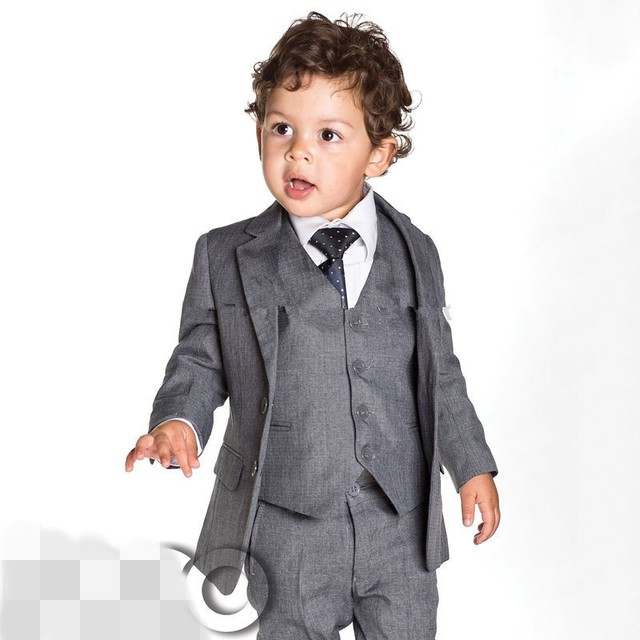 New Arrived Fashion 2015 New Baby Boys Grey Slim Fit Suits Boys ...