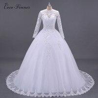 C V Boat Neck Beaded Sashes Vintage Lace Wedding Dresses 2017 Long Sleeve Arab Quality Appliques