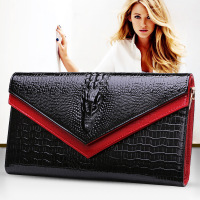 2016 GESUNRY Genuine Leather Women Crocodile Shoulder Bag Trendy Women Clutch Wallet Purse Lady Messenger Bag