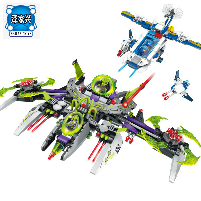 ENLIGHTEN 704Pcs Space Adventure Series Blocks Toy for Children Bricks Chase Alien Commander Model Building Blocks Lepins Toys enlighten building blocks navy frigate ship assembling building blocks military series blocks girls