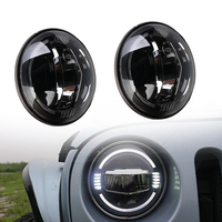 2pcs 7 Inch Led Driving Light 50W LED Car Headlight Kit Auto for Jeep Led Head Lamp Bulbs Dipped & High Beam