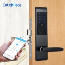 אבטחה אלקטרוני שילוב דלת מנעול דיגיטלי חכם APP WIFI מסך מגע לוח מקשים סיסמא מנעול דלת בית משרד דלת מנעול