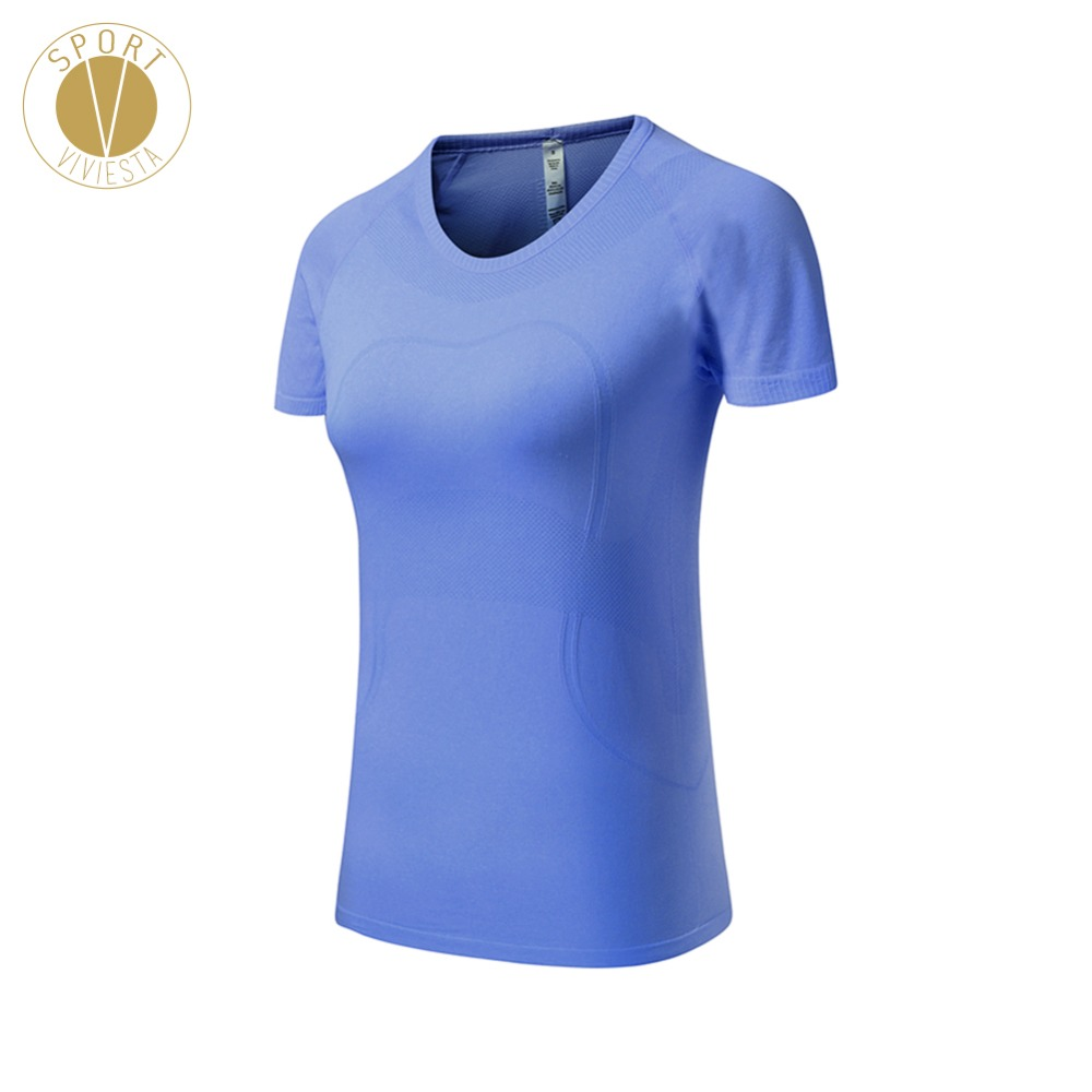 Quick Dry Short Sleeve Top - Womens Active Fit Fitness Workout Yoga Gym Training Running Tennis Shirt Top Tshirt T-Shirt