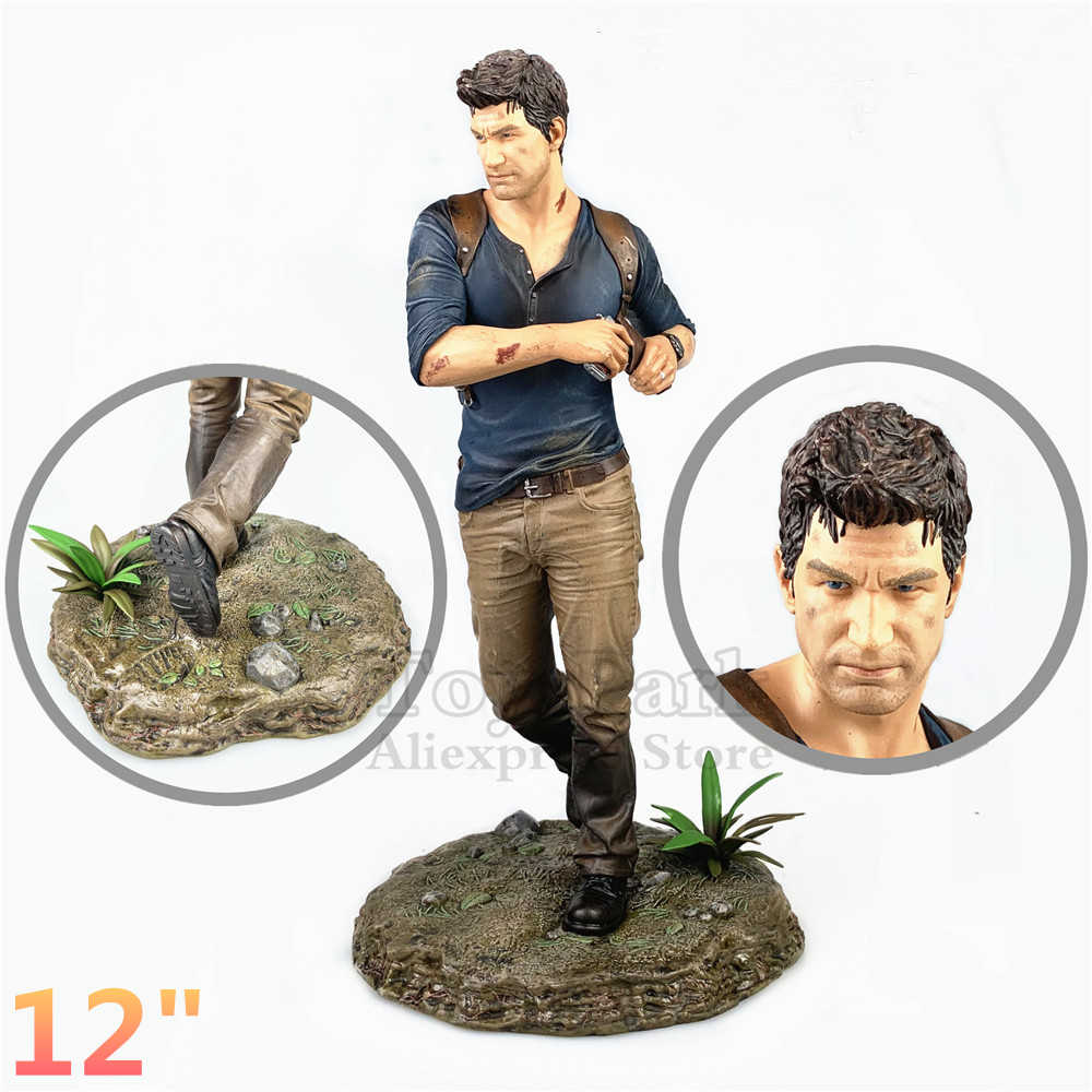 "Originele PS4 12 ""Uncharted 4 EEN Thief'S End Standbeeld Playstation Libertail Collector's Edition Collectible Pop Speelgoed Figuur Loose"