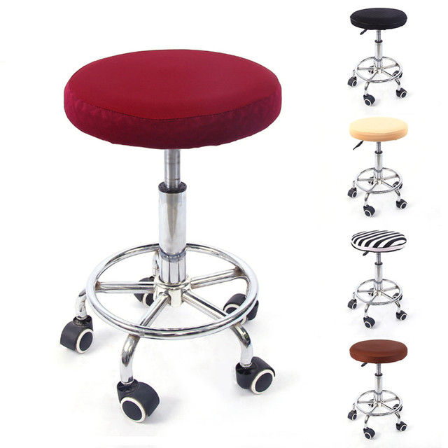 round chair cover bar barbershop stool cover elastic seat cover home