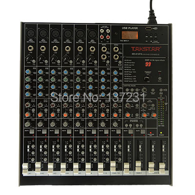 new takstar xr 612fx for mixer console 6 xlr and trs balanced inputs trs balanced stereo input. Black Bedroom Furniture Sets. Home Design Ideas