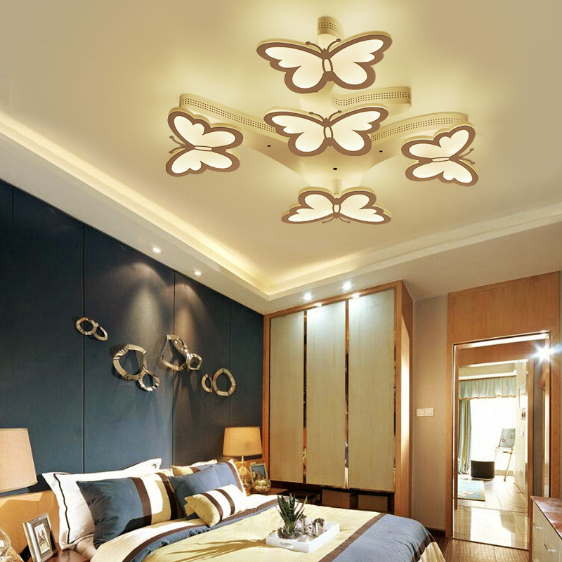 Modern brief The butterfly lam led ceiling lights led bulbs for living room bedroom dinningroom led ceiling lamp Free shipping