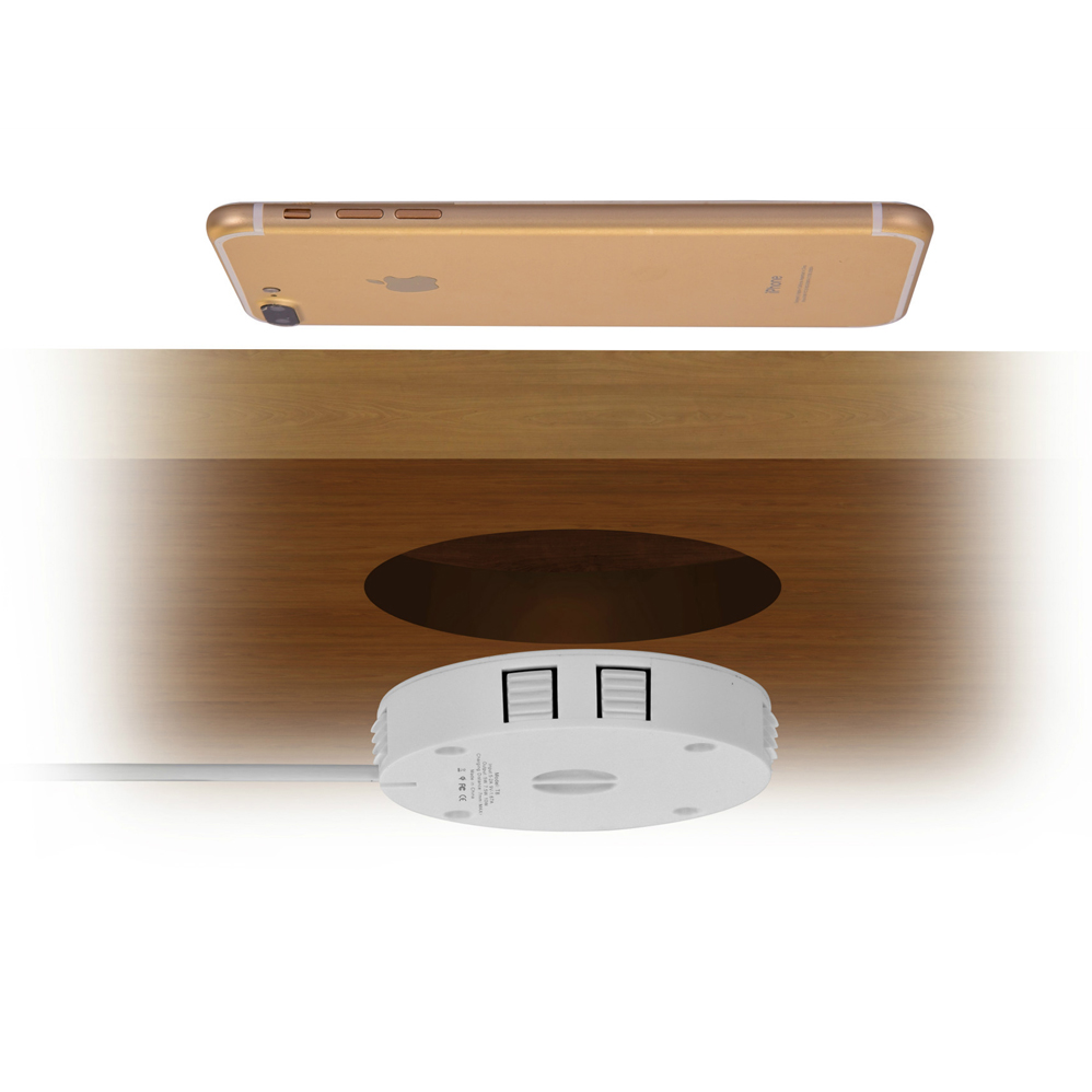 Wireless-Charger Furniture Fast-Charging-Pad Office-Table Qi Note-9 For IPhone Samsung S8