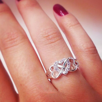 Triple Heart Infinity Ring 2