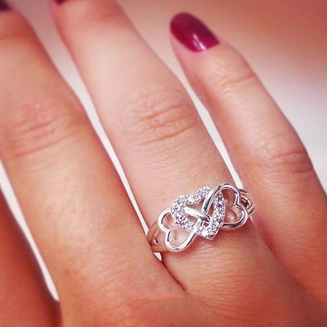 Minimalist Three Heart Rings 2