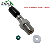 PCP Fill Nipple Quick Release Coupler 8mm Male Quick Disconnect Disconnector w/Check Valve One Way Foster