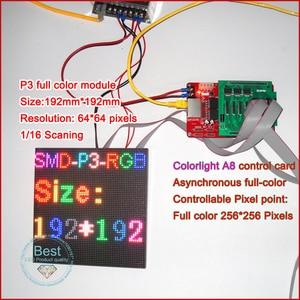 Image 5 - P3 Indoor Full Color LED Display Module,192mm x 96mm, 64*32 Pixels,SMD 3 in 1 RGB P3 LED Panel, P4 P5 P6 P10 Video LED Module