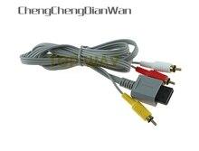 20PCS 1,8 m 6FT Grau Audio Video AV Composite 3 RCA Vergoldeten Kabel Anschluss Kabel Für Nintendo Wii Konsole 20 teile/los