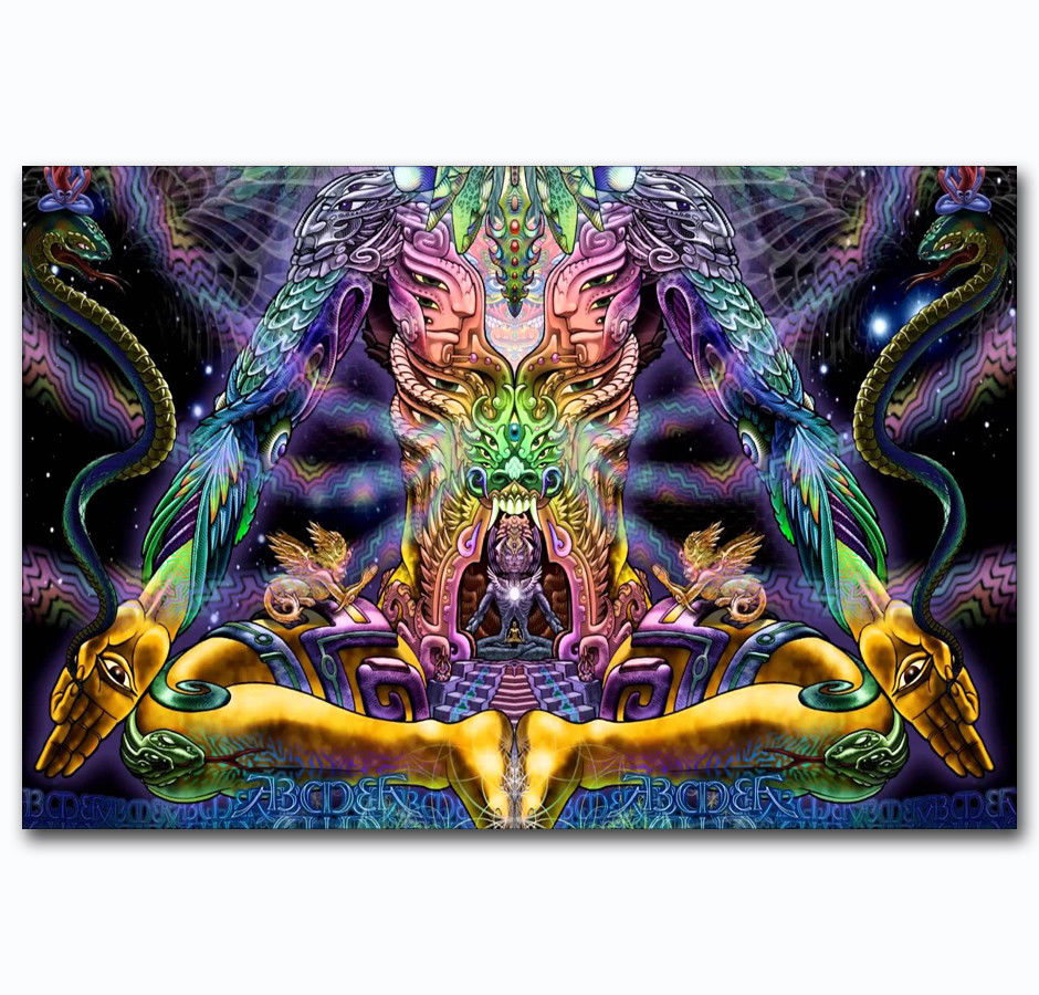 T-108 Art Poster Buddha Psychedelic Trippy Abstract  Hot Silk 24x36 27x40IN
