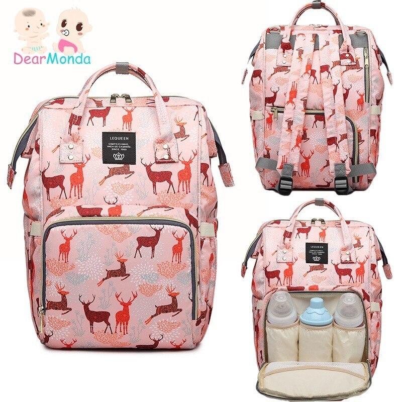 DEARMONDA Diaper Bag Waterproof Zipper Backpack For Moms Large Capacity Outdoor Travel Maternity Bag For Stroller Baby Care Bags