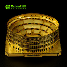 MICROWORLD Colosseum 3D Metal Nano Puzzle DIY Assembly Model For Adults World Architecture Building Men Collection Gift
