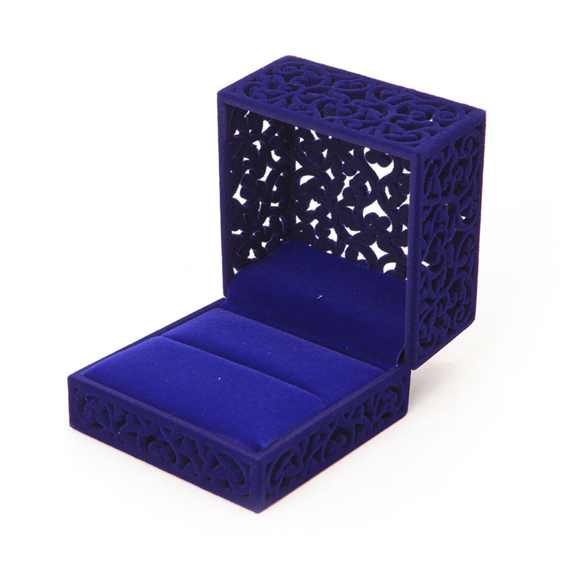Fashion Hollow Engagement Wedding Ring Jewelry Box Holder Display Gift