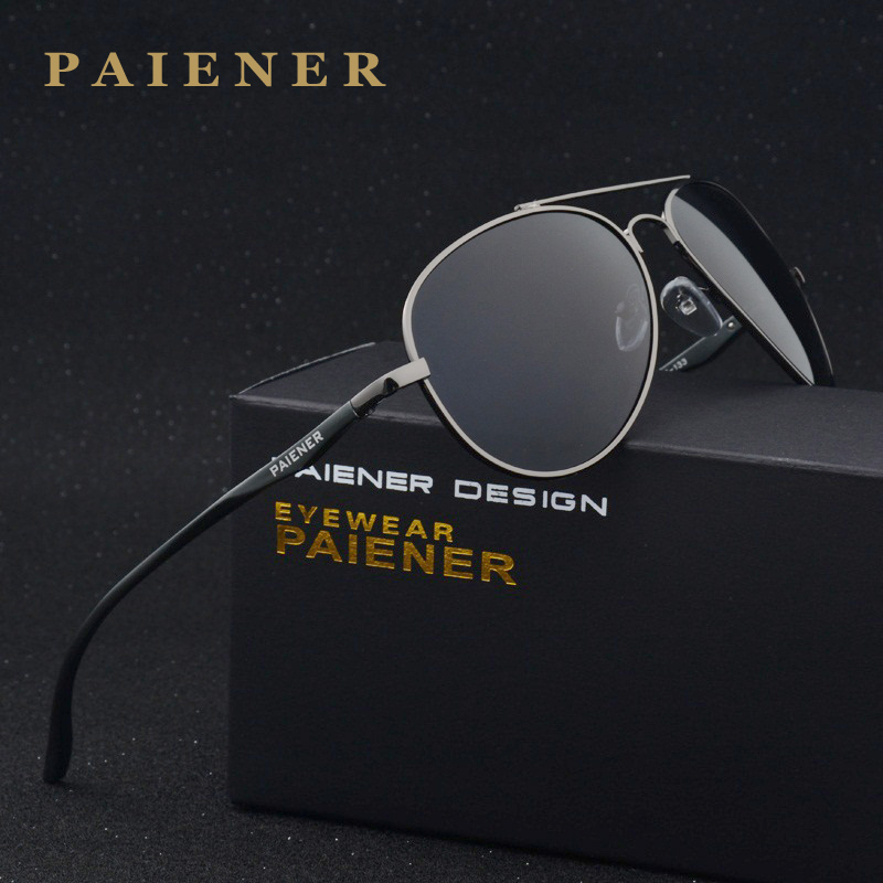 fashion brand Polarized Retro Aluminum Magnesium Alloy Sun glasses Male Man Luxury classic Metal leisure Sunglasses Anti Glare