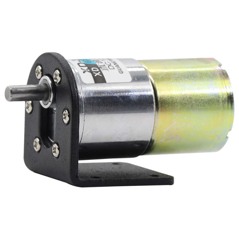 Motor + Bracket!  37mm Diameter Gear Motor 12V 24V DC Micro Reducer Motor Low Spped Adjustable 5rpm to 600rpm