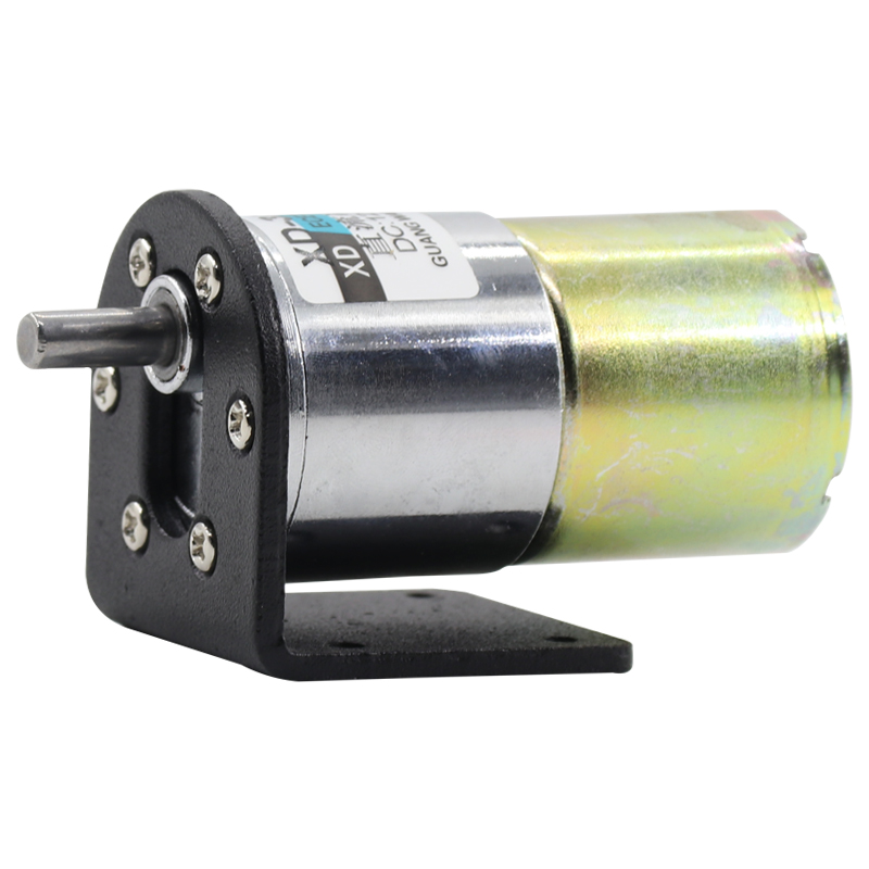 Motor + Bracket! 37mm Diameter Gear Motor 12V 24V DC Micro Reducer Motor Low Spped Adjustable 5rpm to 600rpm zga37ree 37mm miniature dc gear motor adjustable speed motor reversing 12v 24v 5rpm 350rpm