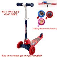 Disney Marvel 2 ways kids foot scooter Kick scooter multifunction children scooter