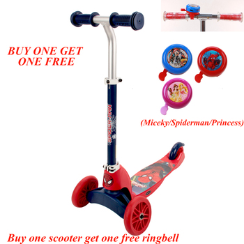 Disney Marvel kids foot scooter Kick scooter multi-function children bicycle easy ride for 3-10 years child gift with handlebars