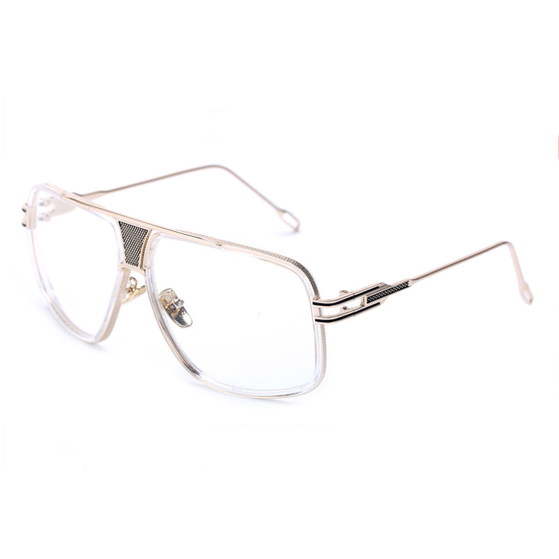 Peekaboo New fashion oversized gold clear frame glasses square high ...