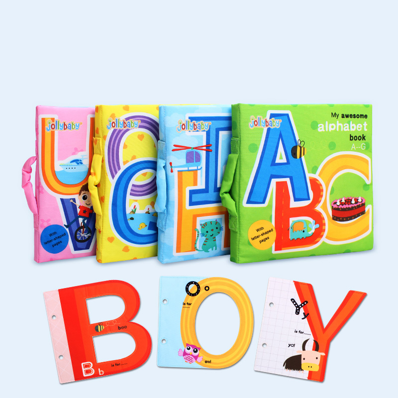 Vente chaude date 0-3 ans lettre carte 6-12 mois bébé livre en tissu enseigner début larme pas pourri bébé jouets début éducatif