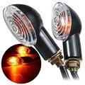 1 Пара 12 В LED Света Сигнала Поворота Мотоцикл Индикаторы Лампы Amber Blinker Для Kawasaki