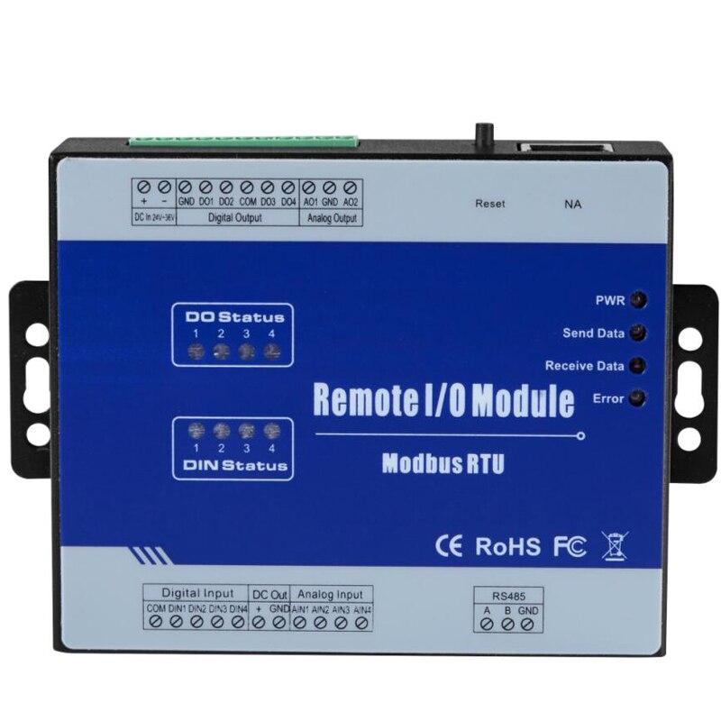 Modbus RTU módulo con aisladas óptica 2 salida analógica soporta 0-10 V IOT control remoto para VFD M200
