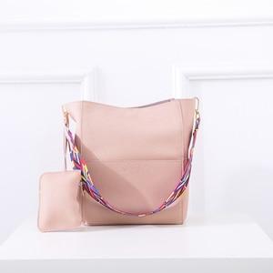 Image 4 - 2019 חדש יוקרה תיקי נשים תיק מעצב מותג מפורסם כתף תיק נשי בציר ילקוט תיק עור מפוצל אפור Crossbody
