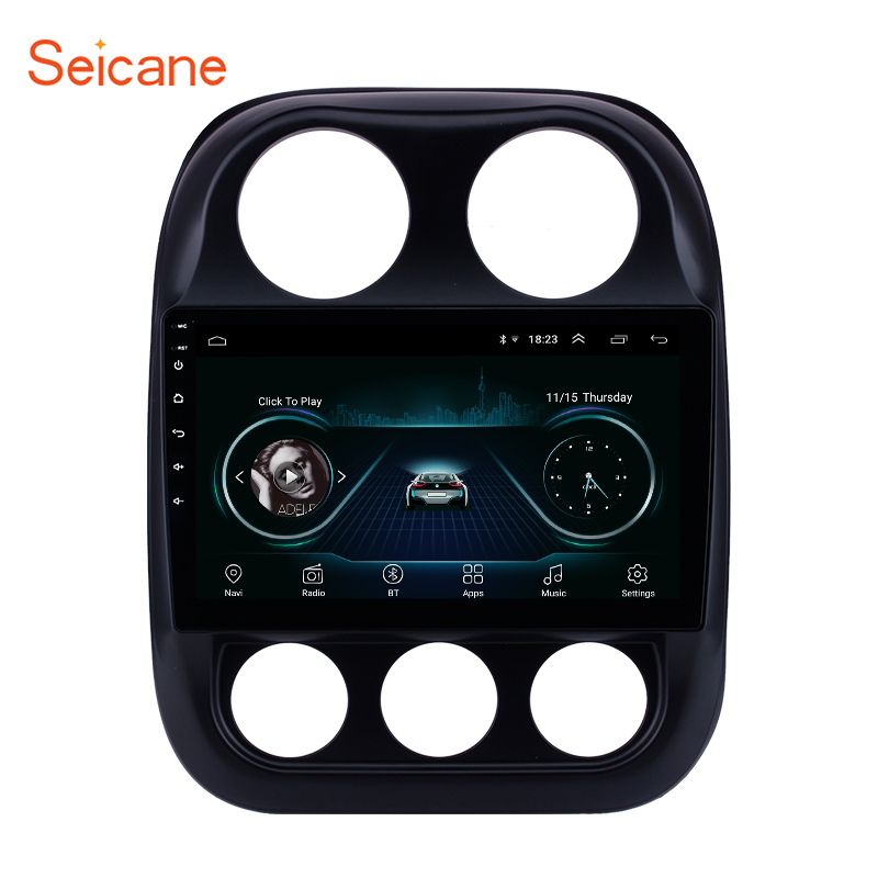 Seicane Android 8.1 Car GPS Navigation 10.1 Radio for Jeep Compass 2010-2016 Auto Stereo Mirror Link WIFI USB head unit PlayerSeicane Android 8.1 Car GPS Navigation 10.1 Radio for Jeep Compass 2010-2016 Auto Stereo Mirror Link WIFI USB head unit Player