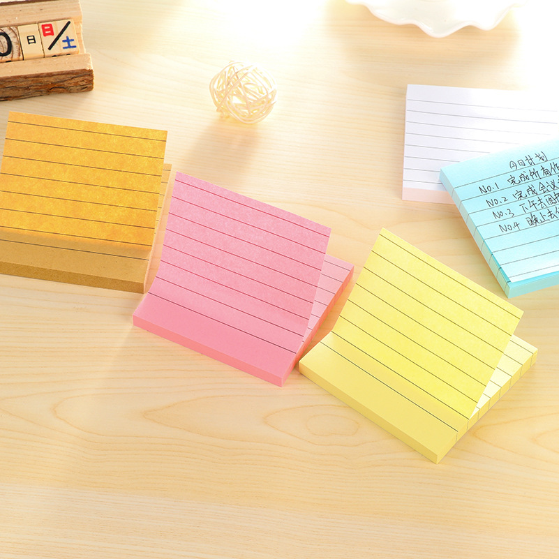 Kraft Paper Line Planner Memo Pads Sticky Notes 80Sheets Sticky Post in Notebook Stationery Papelaria School Office Supplies