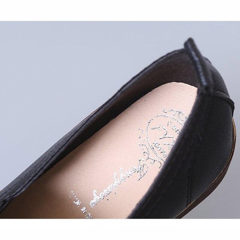 Cuir Oxford Noir Casual Mocassins Pu Bout 42 Chaussures slip Femmes Non En Femme blanc Rond Richelieu Appartements rouge 2019 Nouvelles Taille XwBUPP