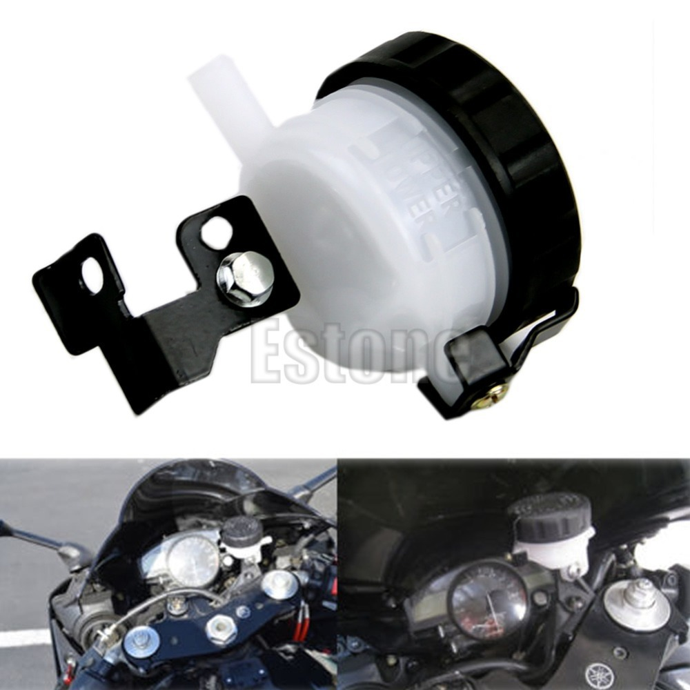 1PC Universal Motorcycle Brake Reservoir Front Fluid Bottle Master Cylinder Bracket