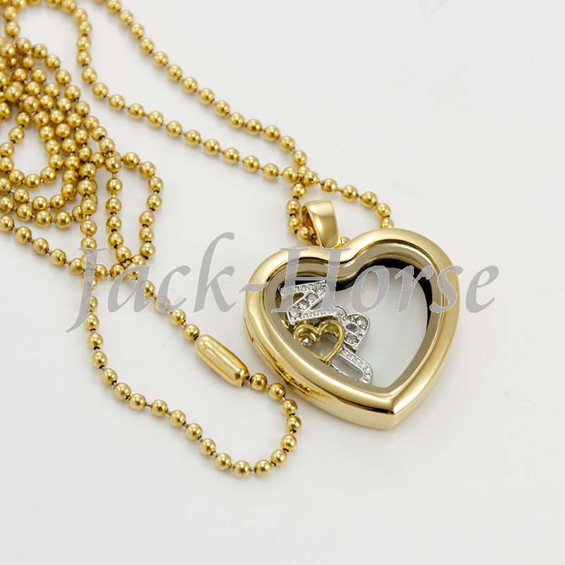 Famous 30 stainless steel heart floating locket! girl silver gold rose  RZ31