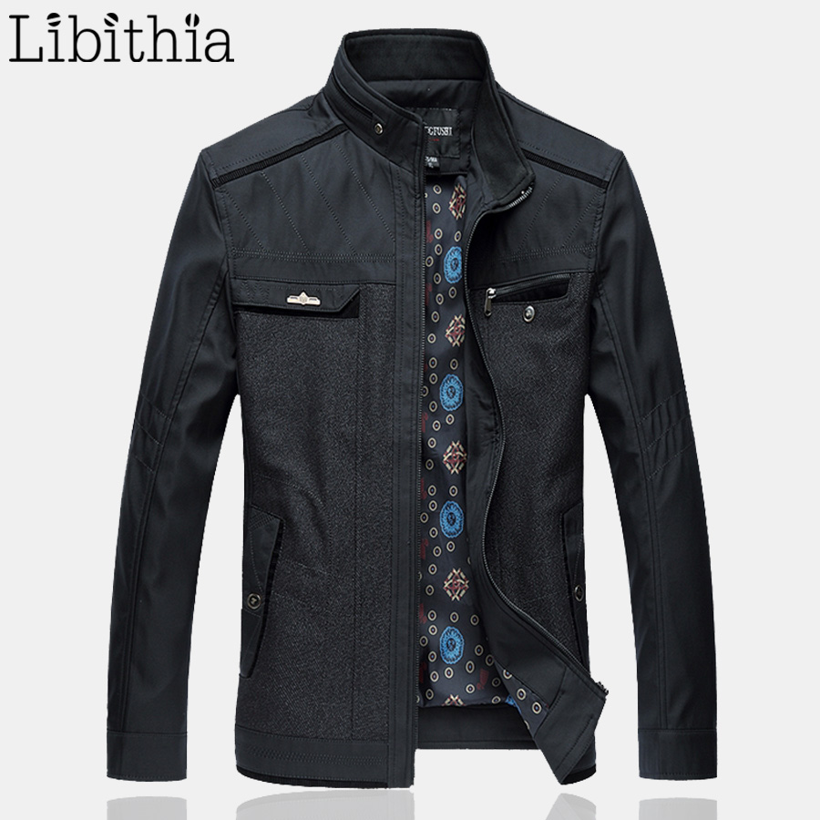 Mens Casual Jackets Stand Collar High Quality Autumn ...