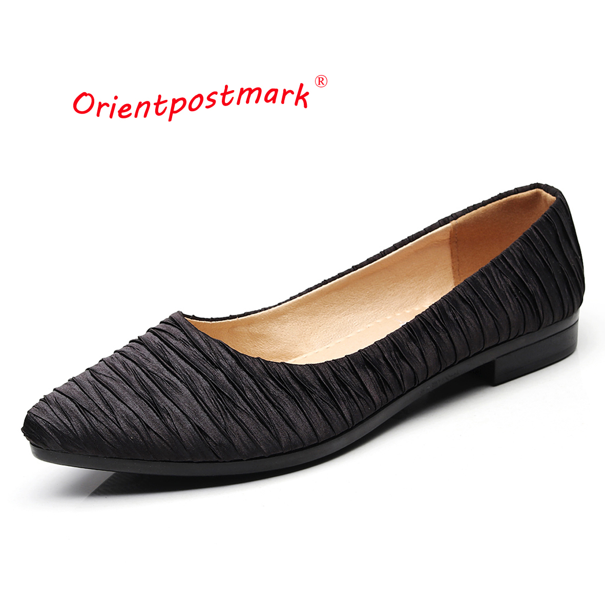Orientpostmark Women Flats Shoes Sweet Loafers Slip On for Work Cloth Ballet Womens Pregnant Boat