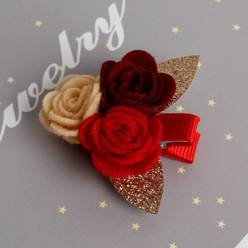 Baru Camellia Bunga Jepit Rambut Lucu Kartun Jepit Rambut untuk Gadis - Aksesori pakaian - Foto 3