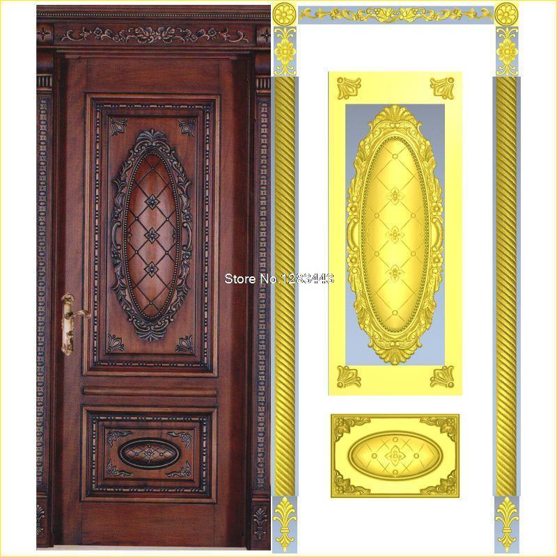 8pcs/lot Door_4 3D STL Format Furniture Decoration 3D Model STL Relief For Cnc STL Format Furniture