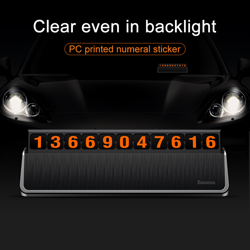 Image 4 - Baseus Car Styling Sticker Temporary Car Parking Phone Number Card Plate Car Park Stop Car styling Automobile Accessories-in Car Stickers from Automobiles & Motorcycles
