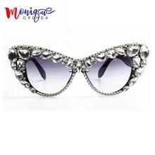 Fashion Sunglasses Oversize Cat Eye Sunglasses Women Brand D