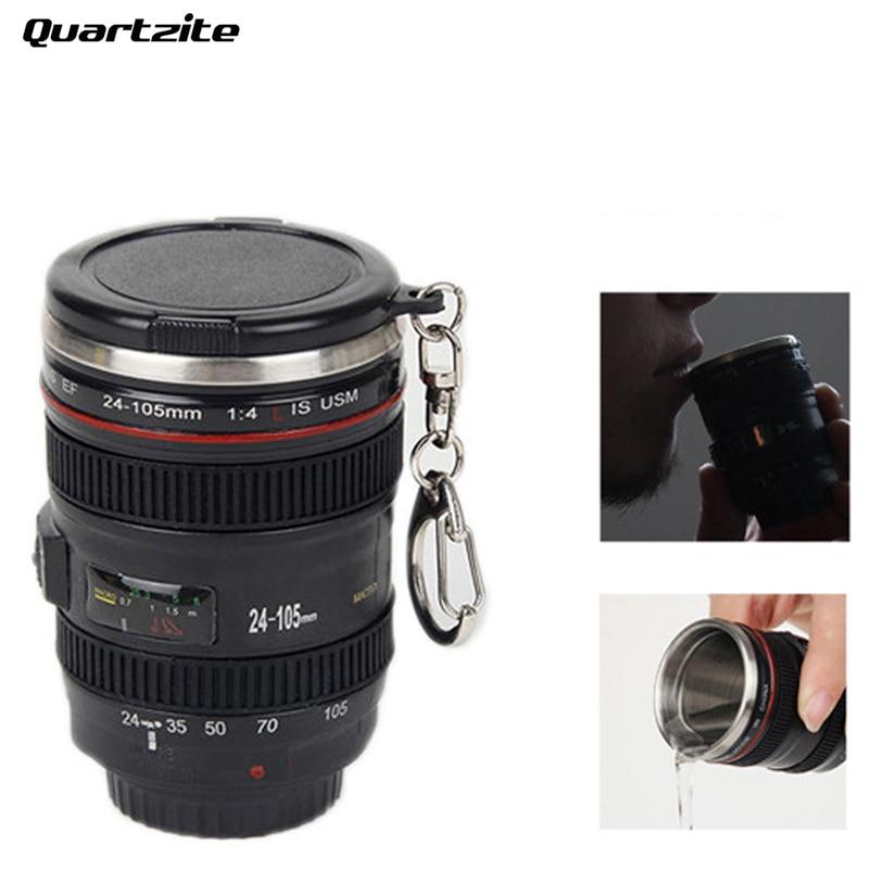 60ml Hot sales 2.1OZ Mini Stainless Steel Mug Cup Vodka Camera Lens Spirits Portable Creative Christmas gifts