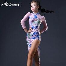2016 Hcdance New Latin Dance Dress Women Free Leggings Salsa Dress Tango Flamengo Ballroom Dance competition Dresses S-XXL A365