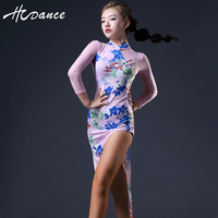 2016 Hcdance New Latin Dance Dress Women Free Leggings Salsa Dress Tango Flamengo Ballroom Dance competition Dresses S XXL A365