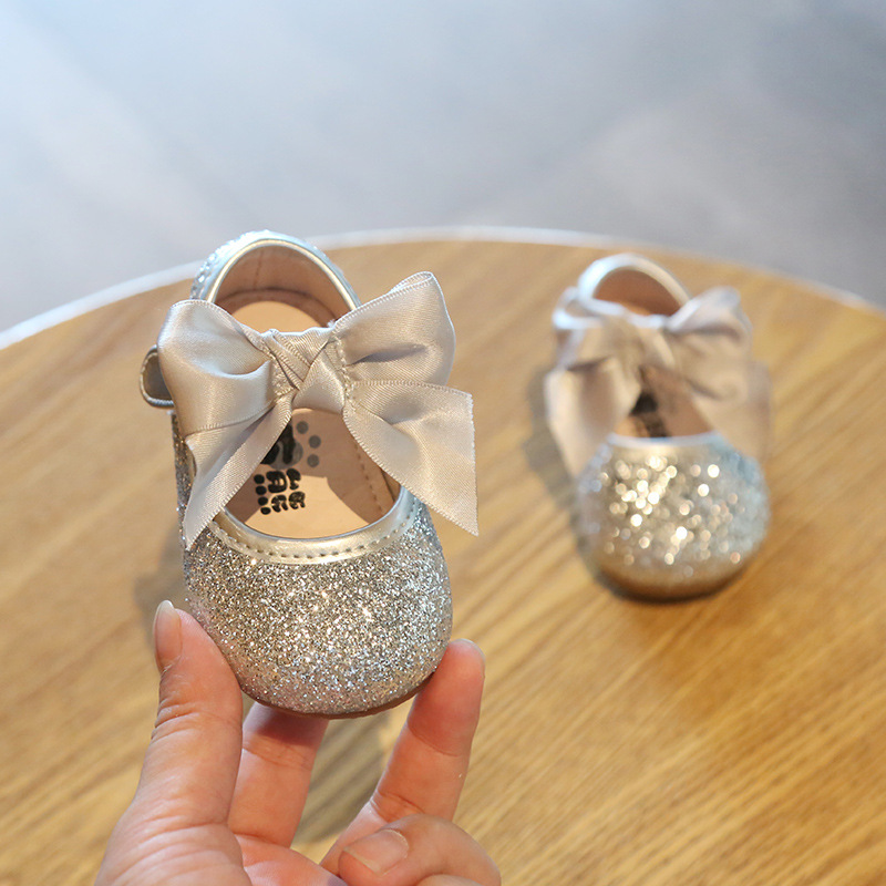 New Spring Autumn Baby Sequins Toddler Shoes Baby Shoes Non-slip Girls Princess Shoes First Walker Bebe Leather Shoes